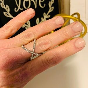 Jewelry - Silver X Ring